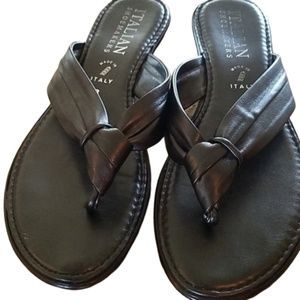 Italian shoemakers slide on shoes. Size 8